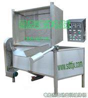 QDY-1800电加热油炸机/电动出料炸麻花油炸机/全自动油炸机/油水混合油炸机