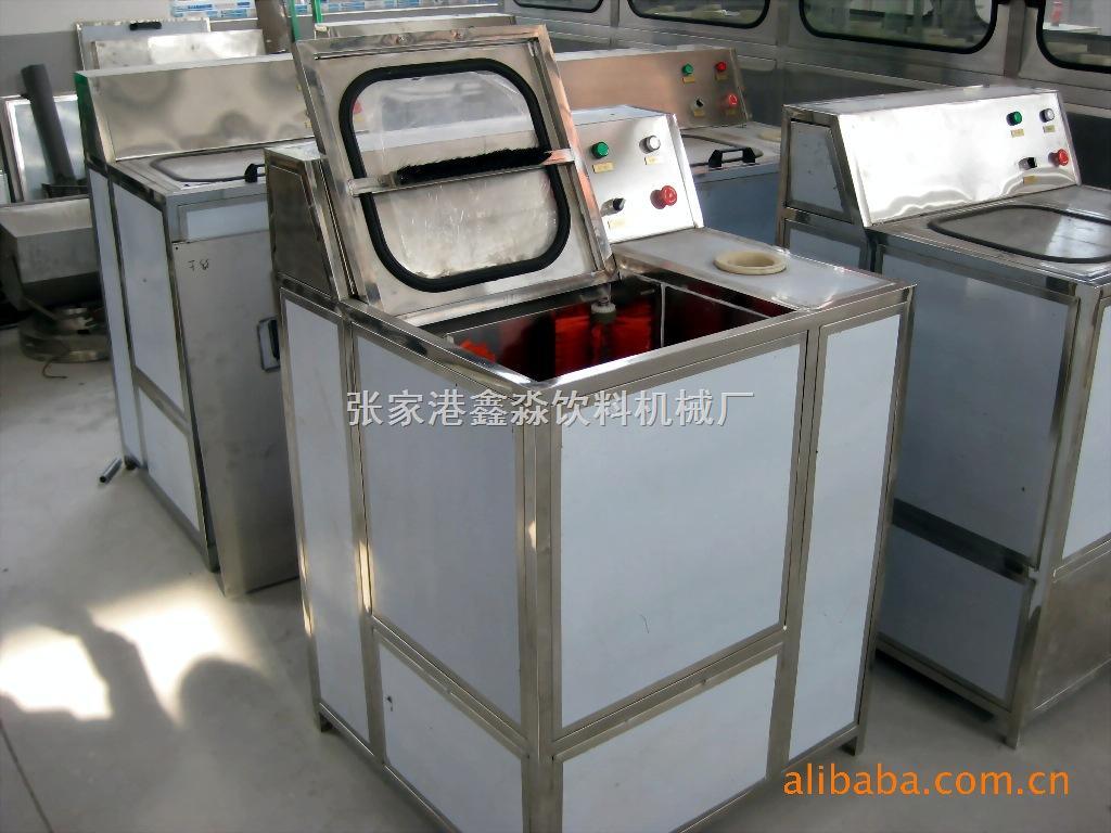 桶装水刷桶机设备 半自动内外刷桶拔盖机